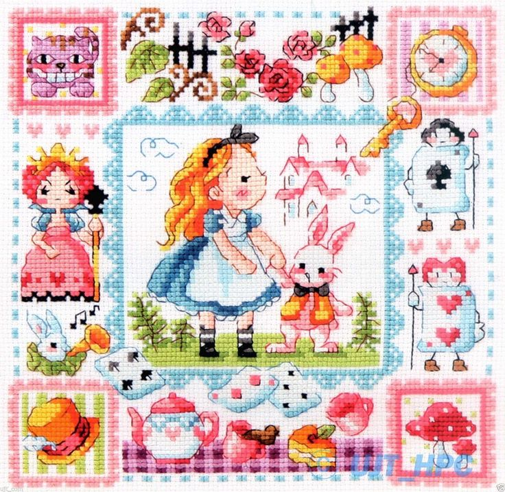 """Alice in Wonderland"" Counted Cross Stitch Chart Pattern Leaflet 