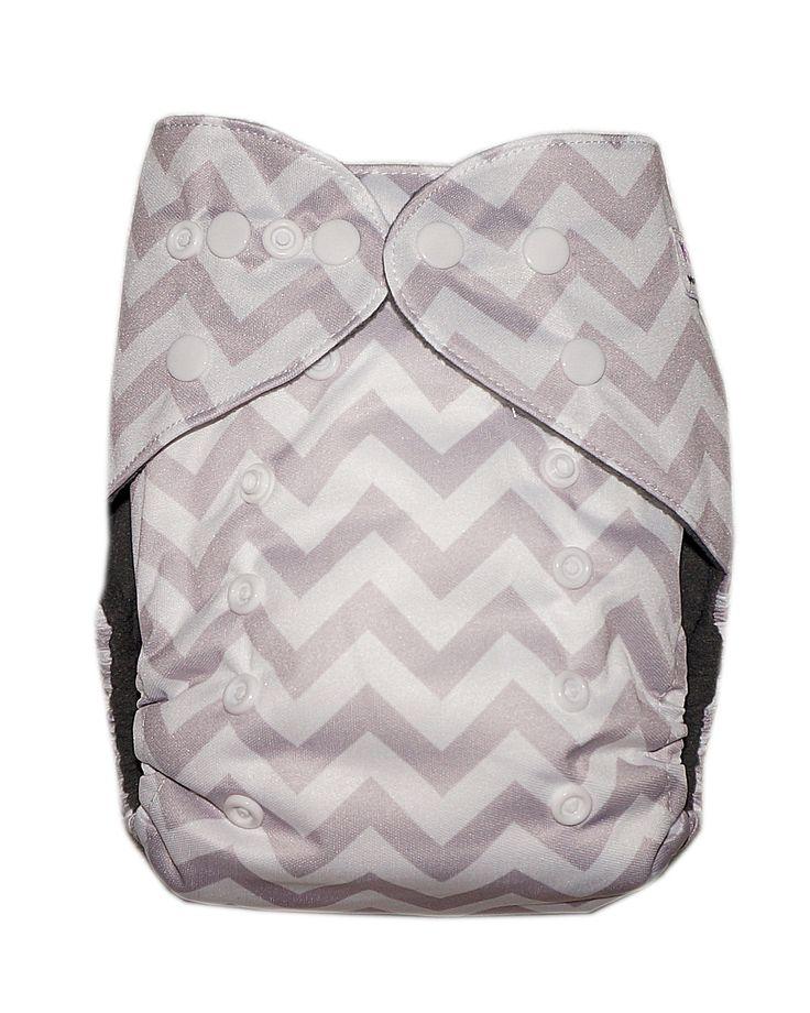 Gen2 - Grey Chevron Cloth Diaper