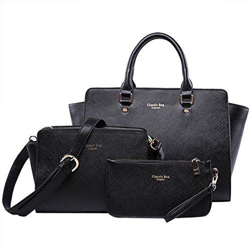 Coofit Damen Handtaschen Leder Messenger Bags Tragetaschen Satchel Clutch Wallet Geldbörse