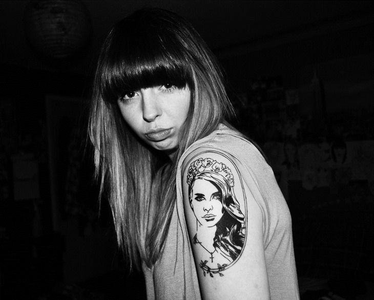 tattoo of lana del rey | Lana Del Rey on Arm Tattoo for ...