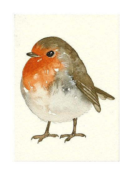ACEO ORIGINAL ROBIN by lorisworld on Etsy