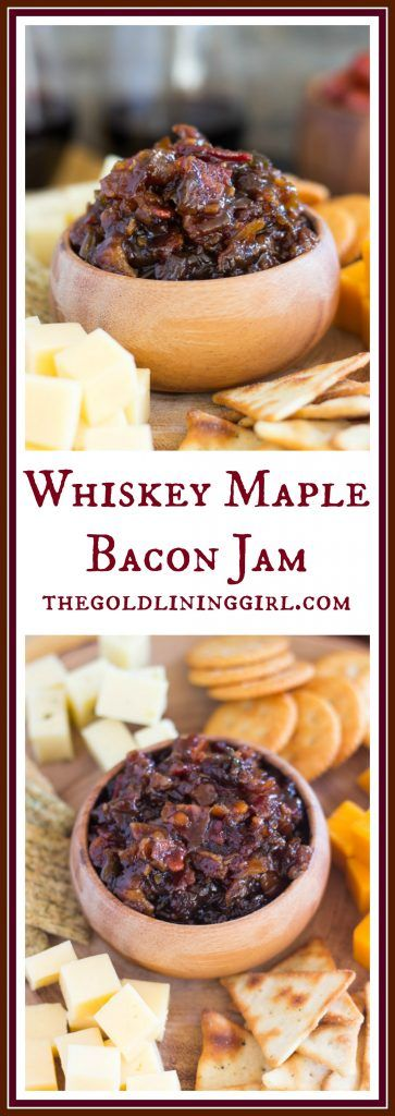 With caramelized onions, fried bacon, maple syrup, brown sugar, and balsamic vinegar! It's sweet, salty, smoky, and spicy - a little of everything. The BEST party tray food!