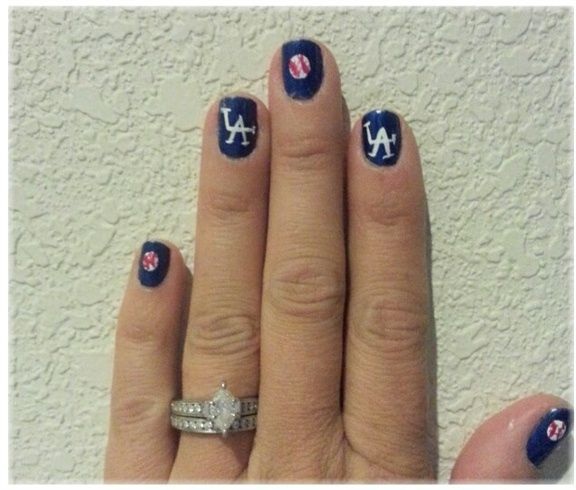 1000+ Ideas About Dodger Nails On Pinterest