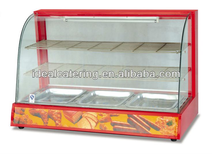 2016 Alibaba Hot Sale Glass Food Warmer Display Showcase