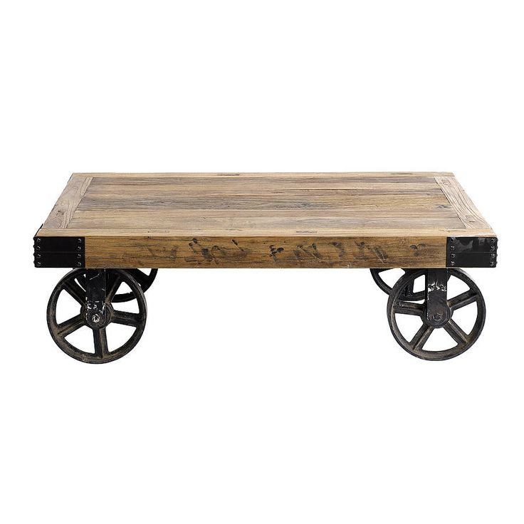 Coffee Table On Wheels By Nordal from notonthehighstreet.com