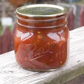 Annie's Salsa: we can 100-150 jars of this yearly! Dave and the kids love it as much as I do. Definitely makes you never want store bought salsa ever again :)