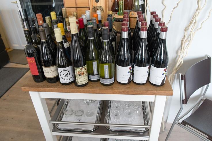 Et par flasker vin på Miró i Aarhus