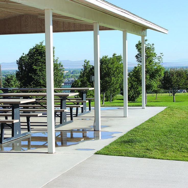 Commercial Picnic Tables Under Pavilion From Premier Site Furniture