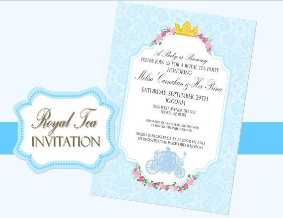Cinderella Party Invitations, Baby Shower Invitations, Wedding Invitation, Cinderella  Baby Shower, Girls Birthday Parties, Girl Birthday, Baby Crowns, ...
