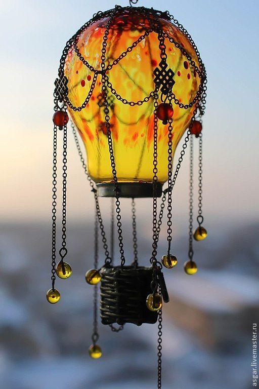 """Миниатюра в духе Жюля Верна """"Воздушный шар"""" / Miniature """"Hot Air Balloon""""…"""
