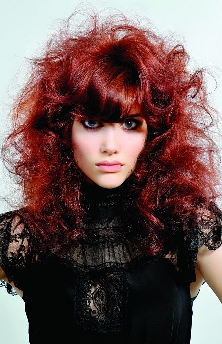 Large image of long red curly hairstyles provided by Guy Kremer. Picture Number 13316