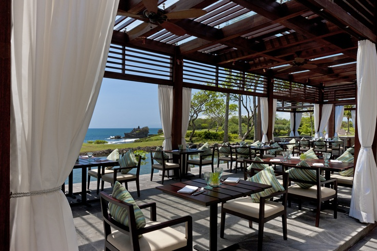 Merica terrace perfect place to have lunch enjoy the sea breeze while admire the magnificent iconic Tanah Lot temple
