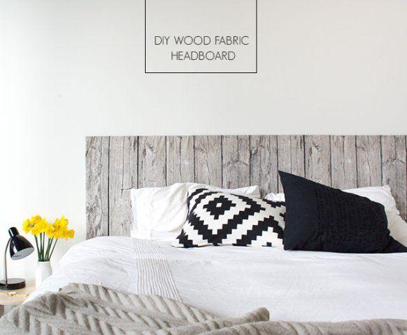 diy wood fabric headboard by craft hunter