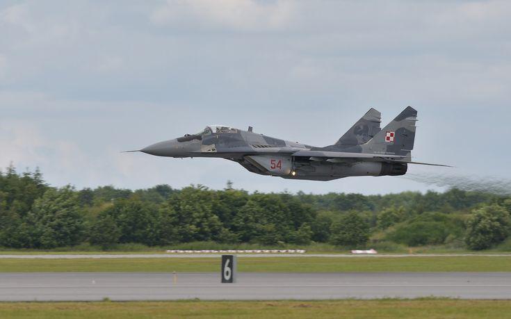 Wojskowy MIG-29runął na ziemię w okolicach Mińska Mazowieckiego.