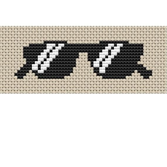 Looking for your next project? You're going to love Sunglasses Cross Stitch by designer StitchX Littles.
