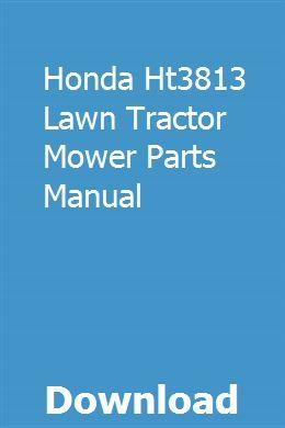Honda Ht3813 Lawn Tractor Mower Parts Manual pdf download