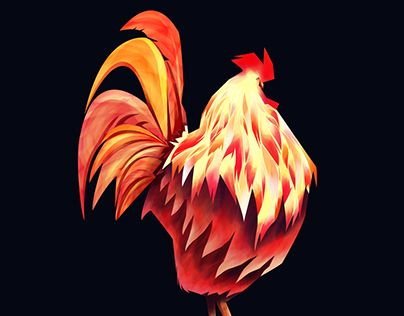 """Check out new work on my @Behance portfolio: """"Roosters"""" http://be.net/gallery/36480183/Roosters"""