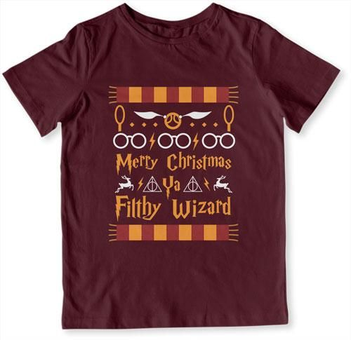 YOUTH TEE - Merry Christmas Ya Filthy Wizard - TEP-531