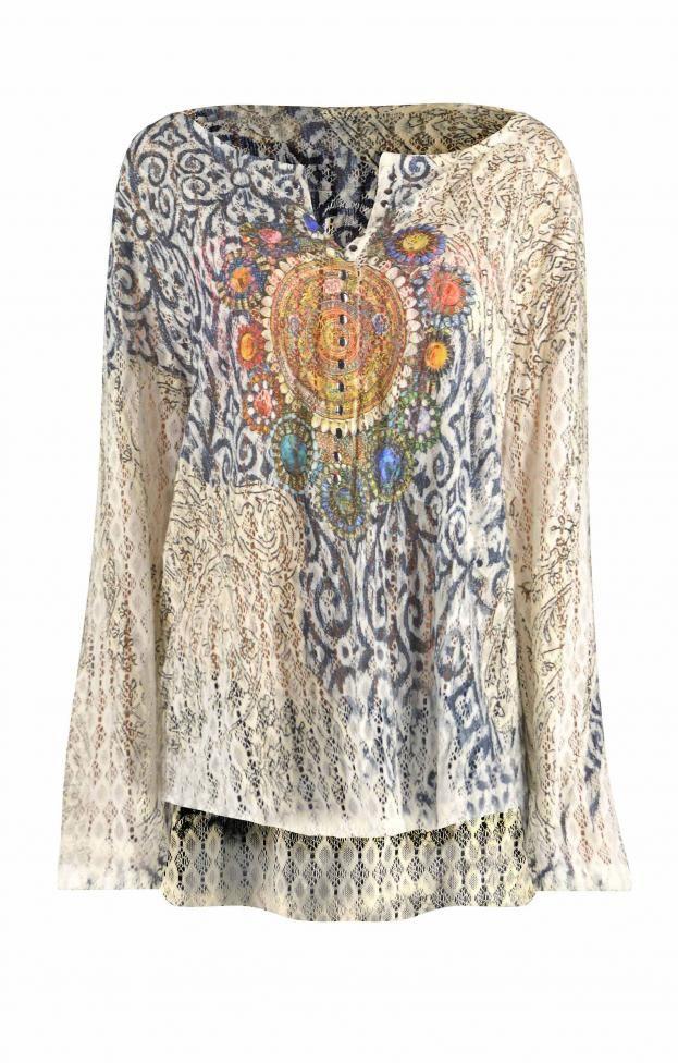 Γυναικεία μπλούζα πλεκτή με στάμπα | Μπλούζες - Μπλούζες και