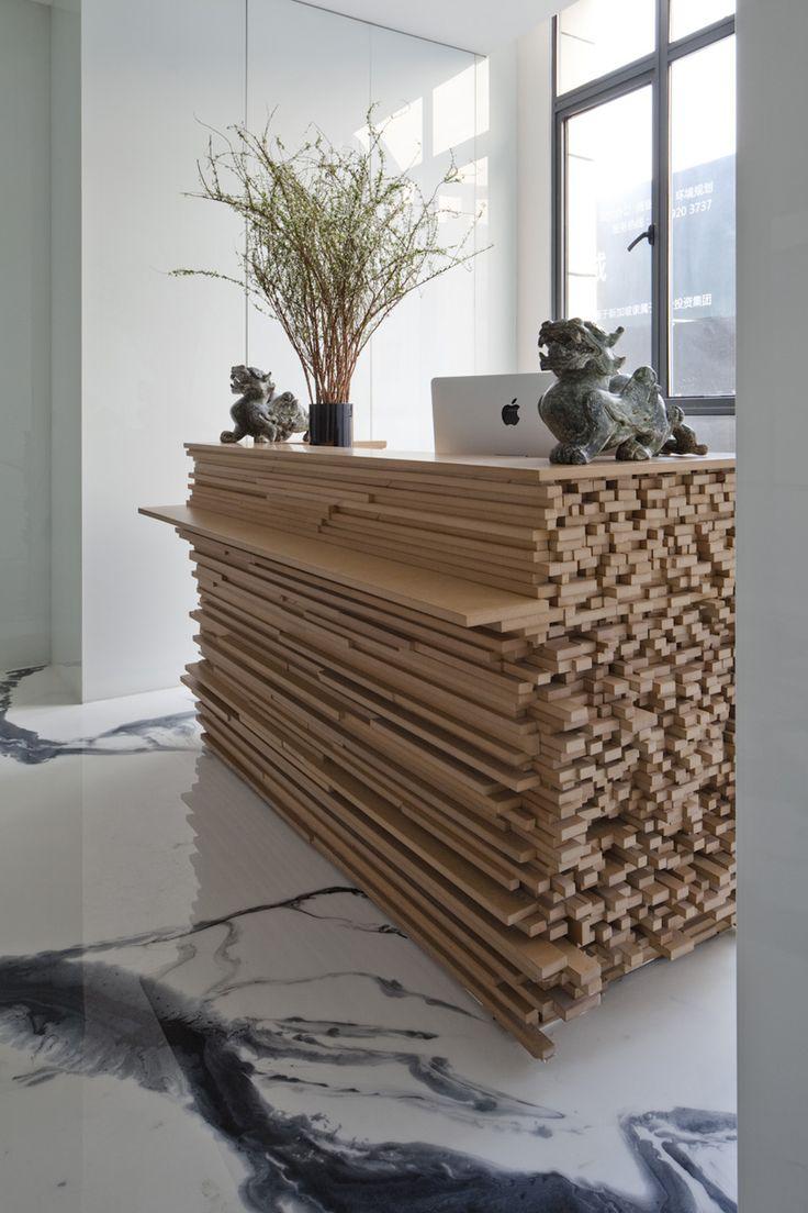 Bambo Recpt Desk JW Associates Plants Bamboo Office