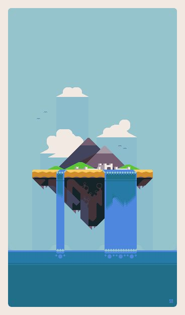 Title:	 Triworld - the floating island Pixel Artist:	Mino Tarius