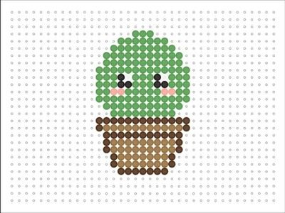 Hama Bead Kawaii Baby Cactus (Kawaii Series 2 #4)
