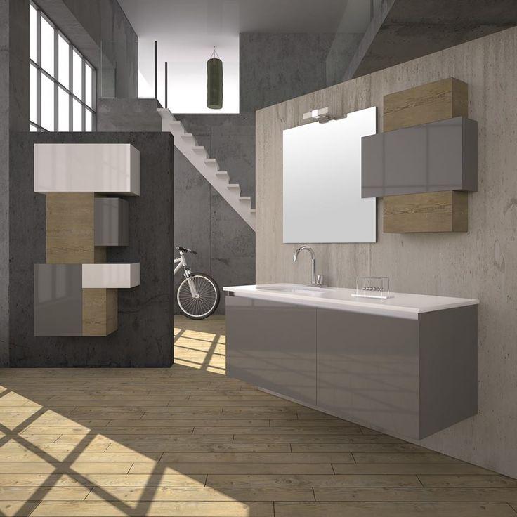 """ULTIMA"" BATHROOM FURNITURE,home,new,interior design,accesories,set,new,style,bath,tiles,product,idea,decoration,woman,mirror,porcelain,επιπλο μπανιου,μπανιο,νιπτηρας,καθρεπτης,πλακακια,idea,spa,architecture,decoration, BLACK,white , GREY,LAMINATE,MODERN ,LACK"
