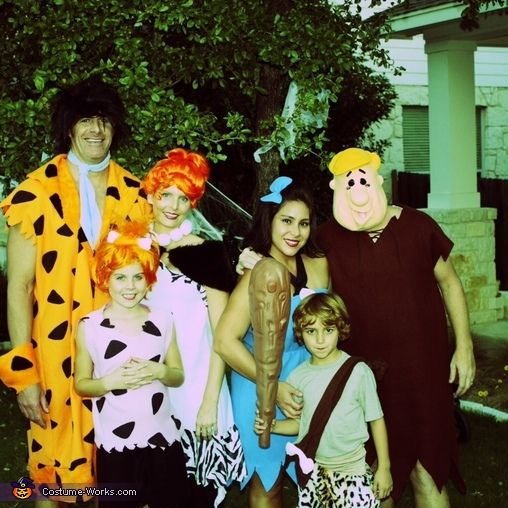 the flintstones family costume - Halloween Flintstones
