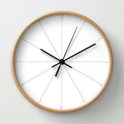 Minimalist Wall clock simple clock classic by LazyLittleLuckyGirl