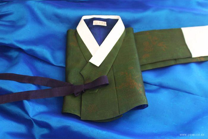 오리미한복 :: 풀색 저고리에 새파란 치마 한 벌, 오리미 혼주 한복