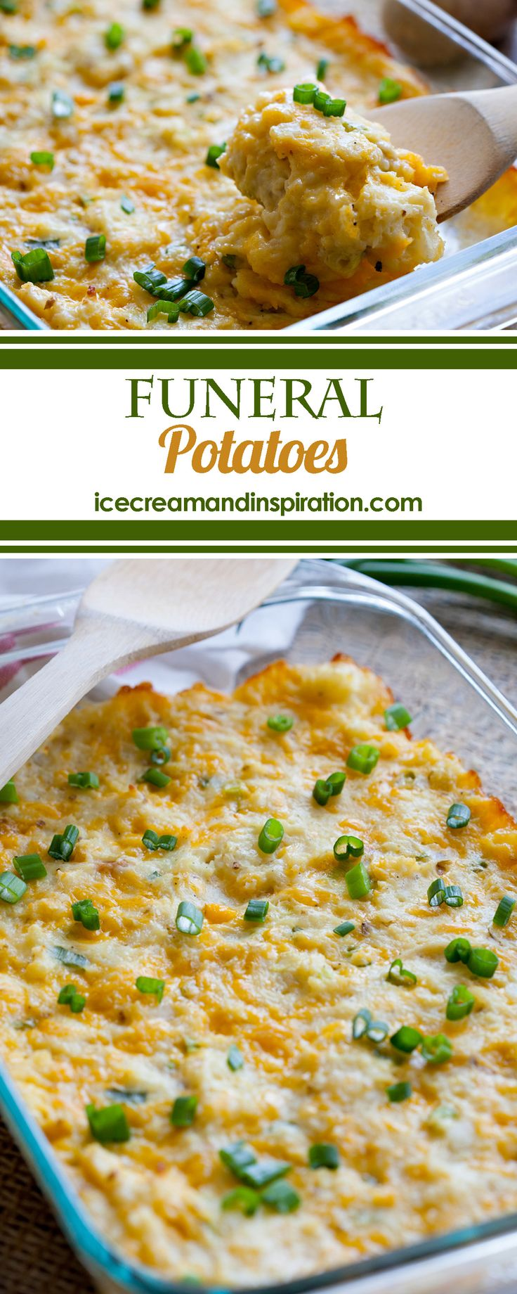 """Why are they called """"Funeral Potatoes?"""" I'm so glad you asked! Read on to learn more and to get the recipe for these creamy, cheesy, to-die-for potatoes!"""