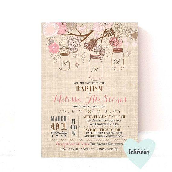 22 best Batismo images on Pinterest Invitations, Floral wreaths - best of sample invitation of baptism
