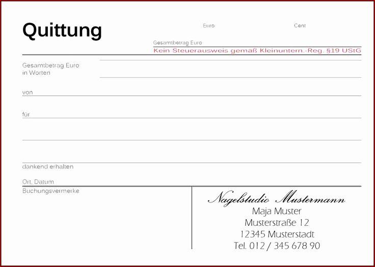 Muster Kleinunternehmer Rechnung Goeqss 6 Vorlage Quittung 12681776