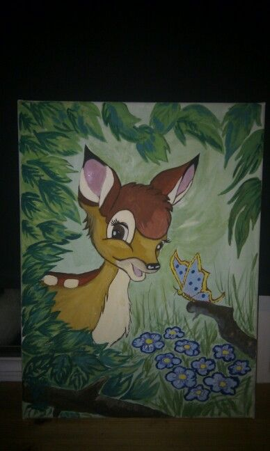 Bambi mural for my daughters room