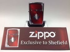ZIPPO CANADA Exclusive Edition Maple Leaf Lighter Free Shipping USA Seller