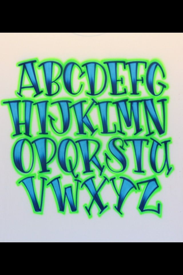 Airbrush Lettering Font - Art-Deco Caps