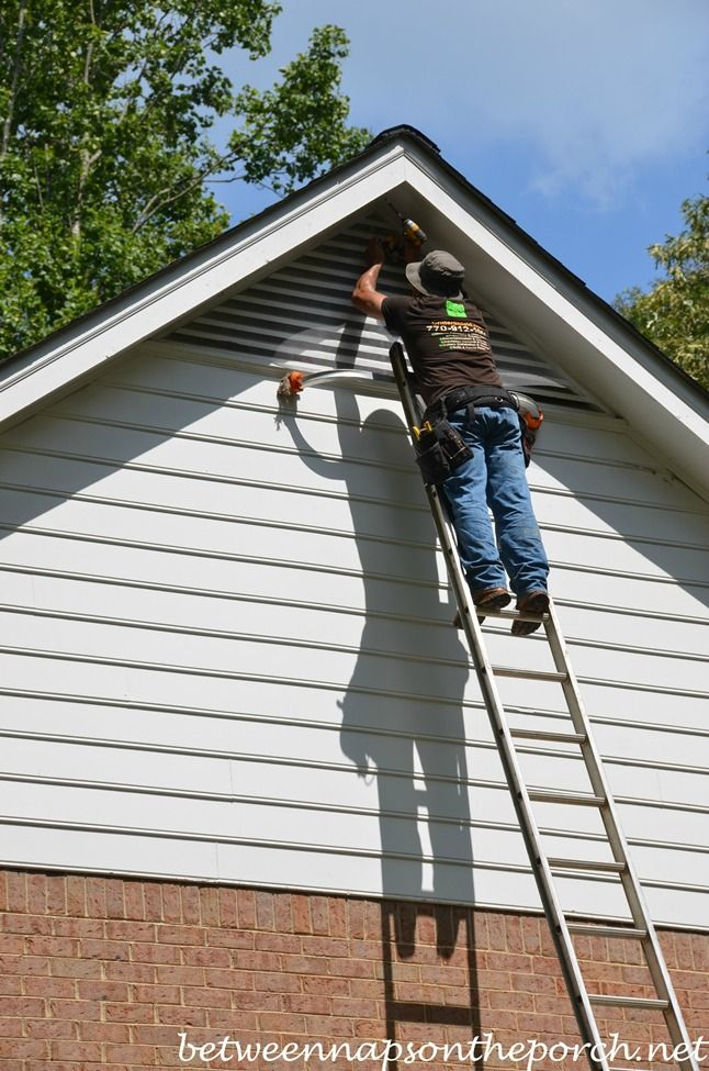 Keep Bats Critters From Entering Attics With Screening Gable Vents Attic Vents House Vents