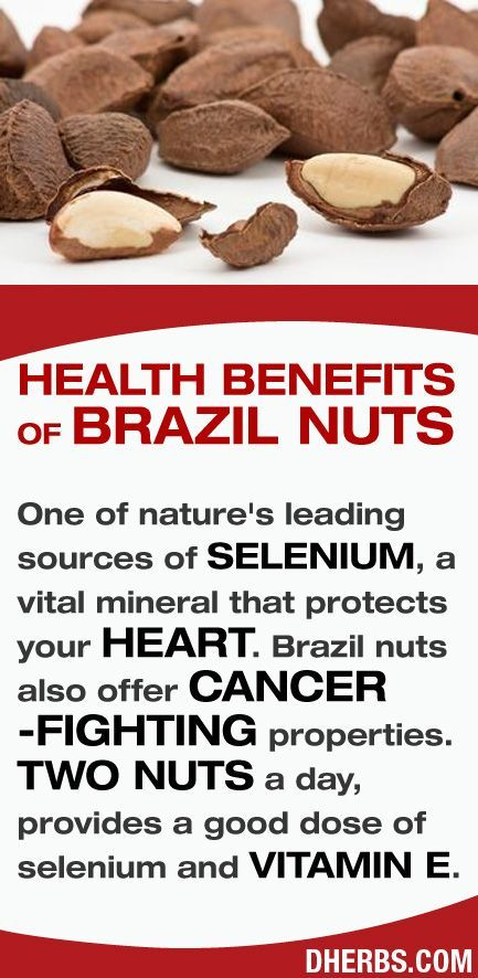 Brazil nuts are one of nature's leading sources of SELENIUM, a vital mineral that protects your HEART. Brazil Nuts also offers CANCER-FIGHTING properties. #dherbs #healthtips
