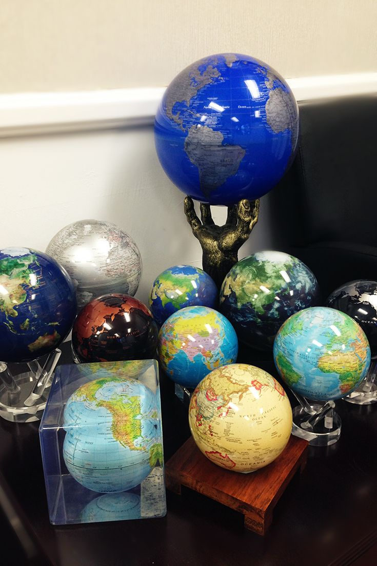 MOVA #Globes galore, featuring all our classic, contemporary and satellite view #maps.