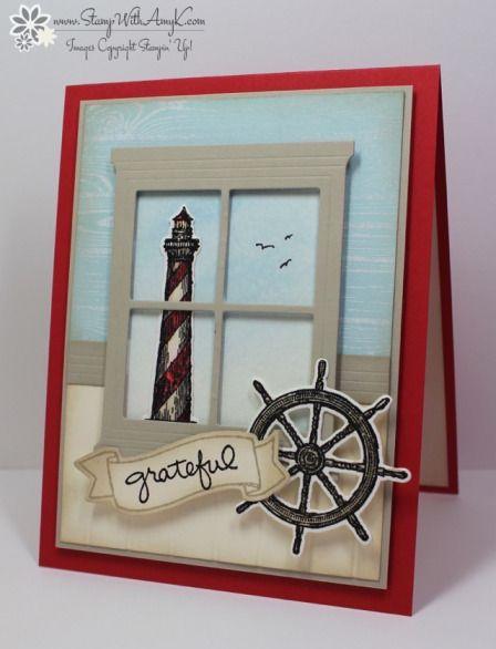 nautical masculine grateful window card by Amy K