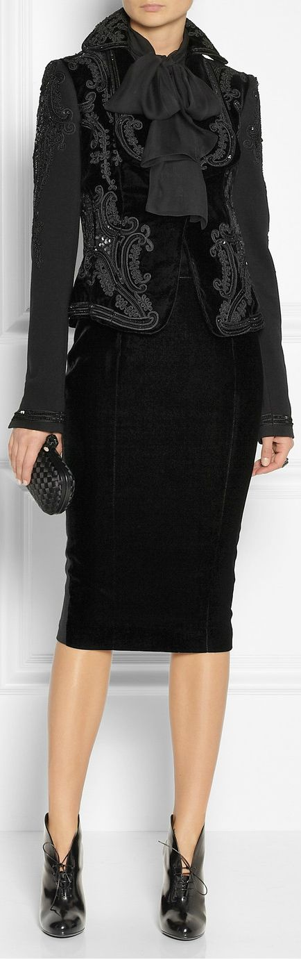 L'Wren Scott - a skirt the right length and fabulous detail on the jacket.