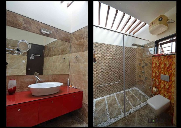 Skylight bathroom design by living edge architects for Small bathroom designs bangalore