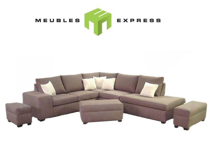 Sectionnel, fauteuil, causeuse, sofa condo, sofa possibilité de faire sur mesure