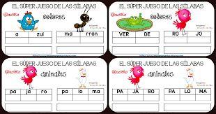 Resultado de imagen para descomposicion silabica para niños