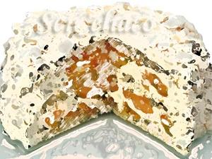 Torta Praliné y Durazno con Merengue
