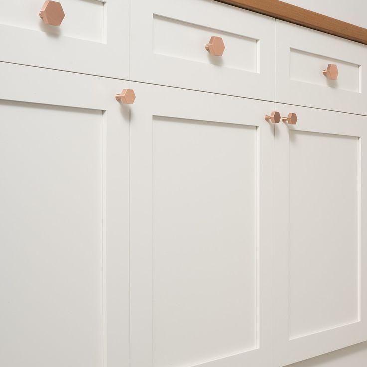 Hex Knob - Satin Copper | Cabinet Knobs | Hardware