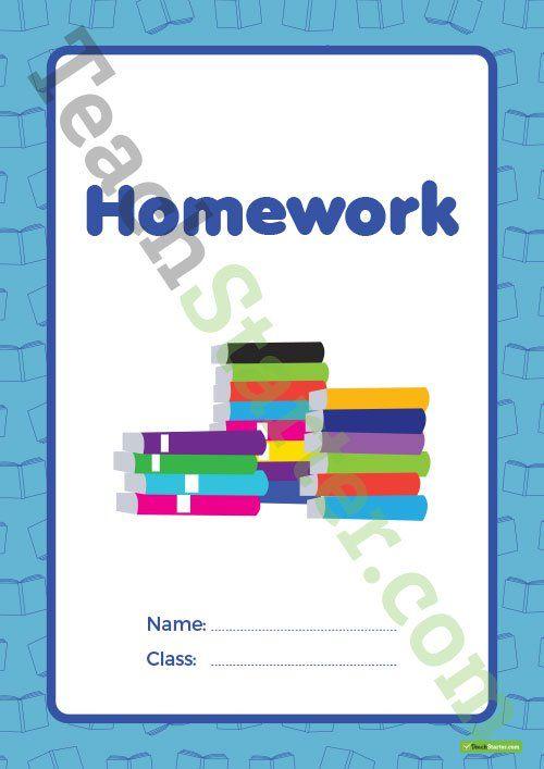 Homework Book Cover – Version 2 Teaching Resource
