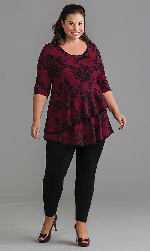 Rose Tunic / MiB Plus Size Fashion for Women / Spring Fashion http://www.makingitbig.com/product/5168