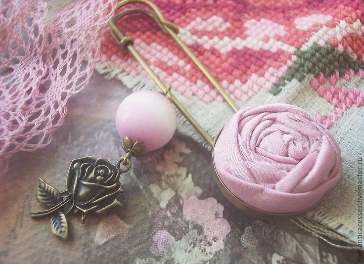 """Купить брошь """"принцесса Александра"""" - брошь роза, розовый, розовая роза…"""