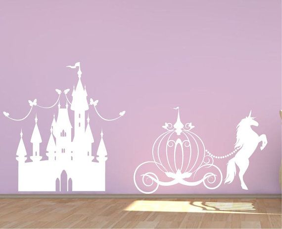 Princess Castle wall decal girls fairytale by Quirkyworks33
